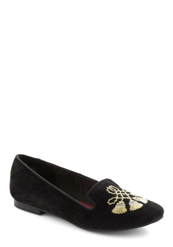Daily Jaunt Shoe - Black, Silver, Gold, Solid, Embroidery