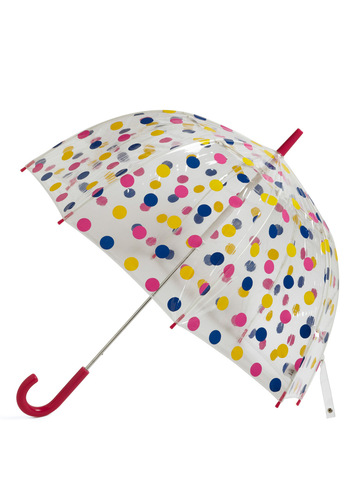 Candy Sprinkling Umbrella in Raspberry - Yellow, Blue, Polka Dots, Pink, Travel