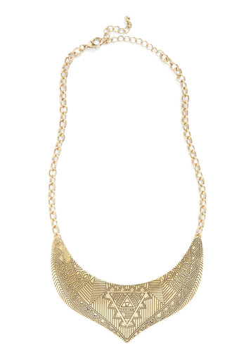 Encrypted with Chic Necklace - Gold, Chain