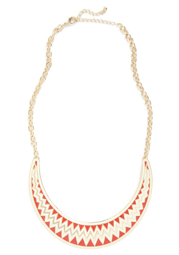 Whatever You Call It Necklace - White, Red, Gold, Print