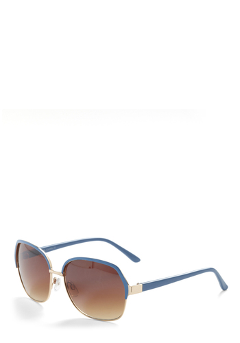 Horizon Gazing Sunglasses - Blue, Gold