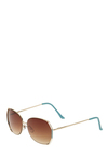 Côte d Azur Sunglasses - Gold, Blue, White, Party, Casual, Urban