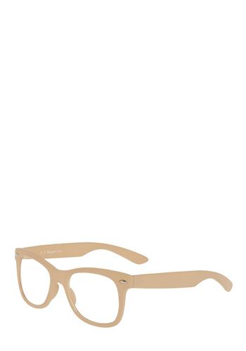 Beatnik Beige Glasses - Cream, Work, Casual