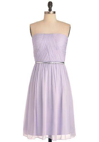 Time of My Life Dress in Lilac - Purple, Solid, Sheath / Shift, Strapless, Prom, Wedding, Luxe, Party, Long