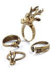 Group Hug Ring Set - Gold, Solid