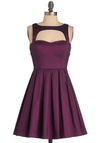 Last Slow Dance Dress in Purple - Special Occasion, Prom, Party, Purple, Solid, Cutout, Vintage Inspired, 50s, A-line, Short