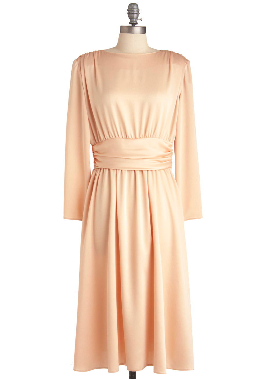 Vintage Peach Dress