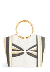 Beach You to It Bag - Cream, Black, White, Casual