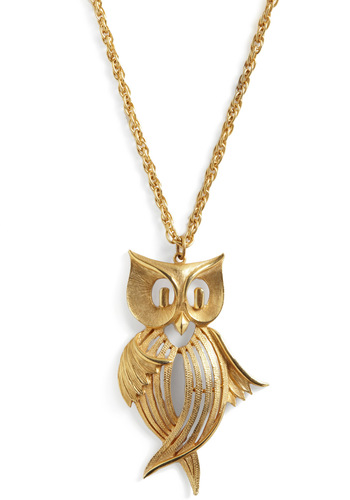 Vintage Owl We Dance? Necklace