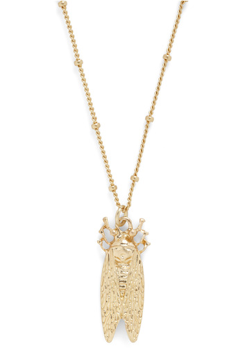 Song of the Cicada Necklace - Gold, Solid, Chain