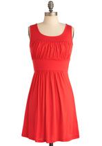Orange Dresses - Simplicity Party Dress in Orange
