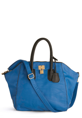 Wish You Good Lock Bag - Blue, Black, Buckles