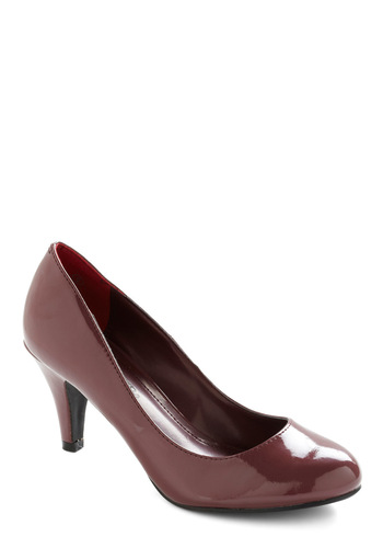 Red Eye Carumba Heel - Red, Solid, Work, Faux Leather, Mid