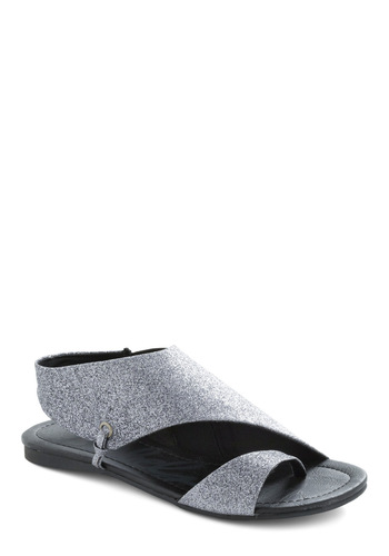 Stellar the Spotlight Sandal - Silver, Black, Solid, Party