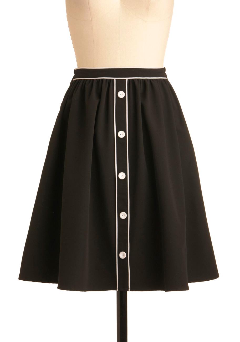 City outline skirt mod retro vintage skirts modcloth