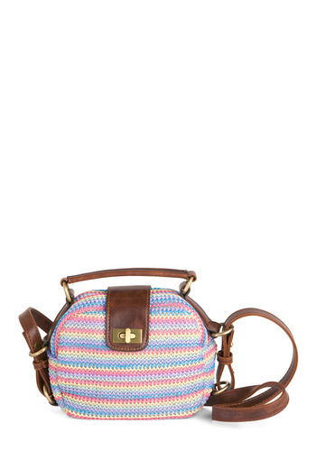 Palm Beach Roamer Bag - Casual, Vintage Inspired, Multi, Brown, Stripes, Woven, Spring