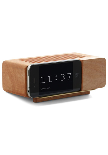 Wake Up Call iPhone Dock - Tan, Mid-Century, Minimal, Graduation, Better