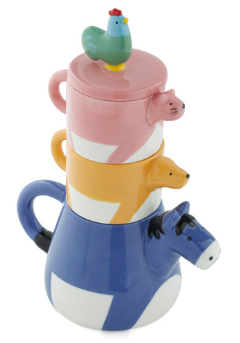 Tall Tails Tea Set - Multi, Kawaii