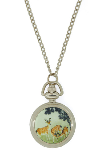 Deer Friends Necklace - Silver, Multi