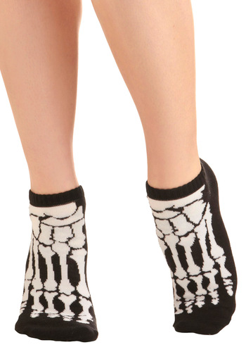X-Ray to Go Socks - Casual, Statement, White, Black, Knitted, Halloween
