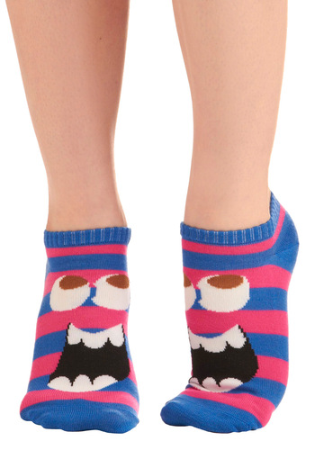 Fun is Afoot Socks - Casual, Statement, Stripes, Purple, Pink