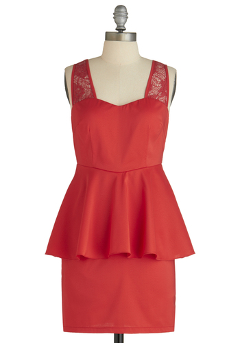 Sample 1616 - Red, Solid, Lace, Sleeveless, Short, Cutout, Sheath / Shift