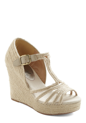 Braid With Love Wedge - Cream, Braided, Summer, Wedge