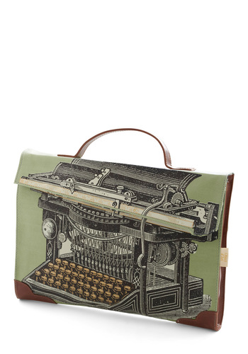 True to Type Laptop Bag by Disaster Designs - Multi, Green, Work, Steampunk, Scholastic/Collegiate