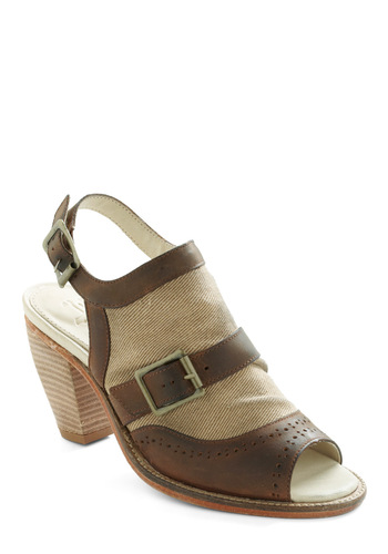 This and Spat Heel - Brown, Tan / Cream, Mid, Tis the Season Sale