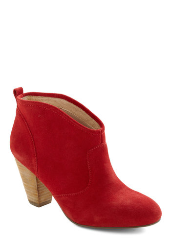 Lay It on the Line Dance Boot - Casual, Red, Solid