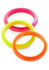 Neon and On Rings - Multi, Orange, Yellow, Pink, Casual, 80s, Vintage Inspired, 90s, Girls Night Out