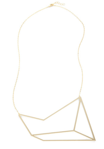 Come and Polygon Necklace - Gold, Solid, Statement