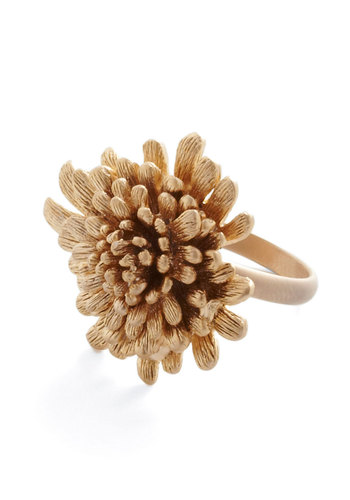 Ring Midas - Gold, Solid, Flower