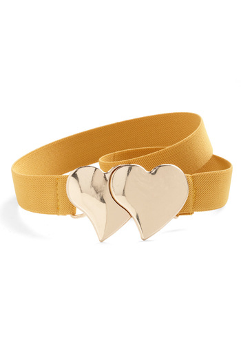 Kindred Hearts Belt - Yellow, Gold, Solid