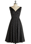 Cinch You Asked Dress by Stop Staring! - Long, Black, Pink, Print, Vintage Inspired, A-line, Sleeveless, Party, Wedding