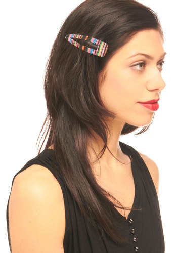 Woven Wonder Hair Clip - Multi, Casual, Boho