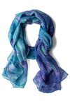 Feather Permitting Scarf - Blue, Print