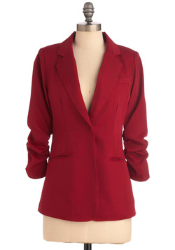 Career Path Blazer in Red