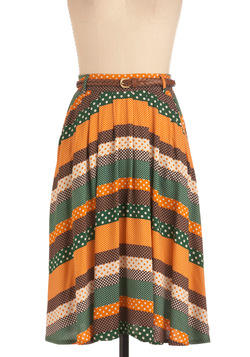 Washi and Learn Skirt in Orange and Green