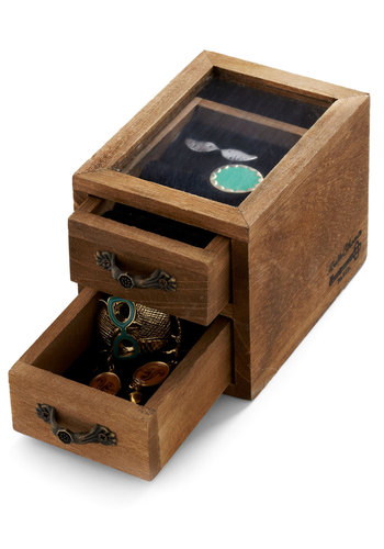 Tiny Treasures Jewelry Box by Japanese Gift Market - Brown