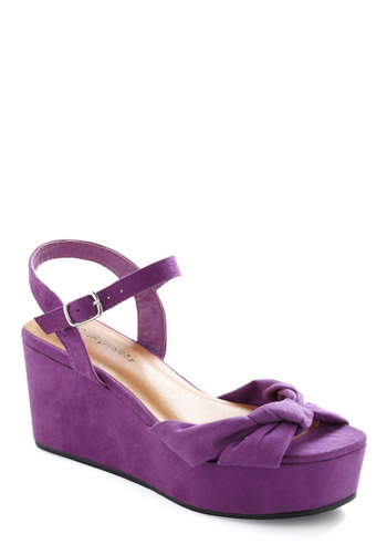 That's So You Wedge - Purple, Solid, Party, Pinup, Wedge