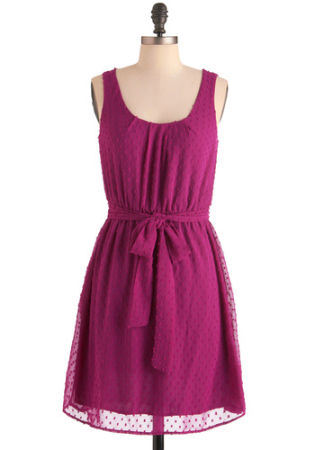 Plum Jam Dress - Mid-length, Purple, Sheath / Shift, Tank top (2 thick straps), Solid, Casual
