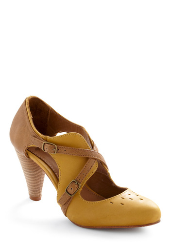 Adventure Capitol Heel - Yellow, Multi, Brown, Buckles, Work