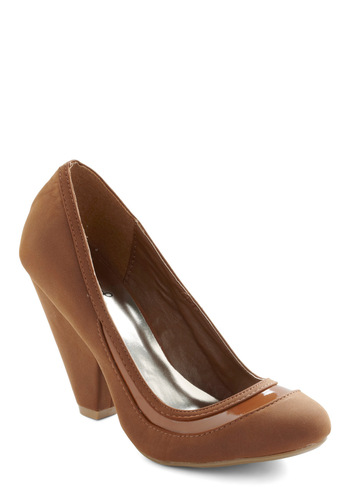 It's Never Too Latte Heel - Brown, Solid, Trim, Work