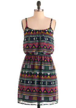 Play That Funky Mosaic Dress