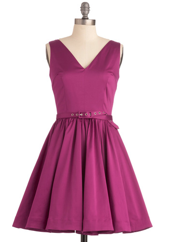 Couldn't Be Nicer Dress - Mid-length, Pink, Solid, Pockets, A-line, Tank top (2 thick straps), Prom, Party, Wedding