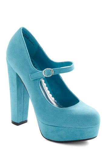 Catwalk in the Sky Heel - Blue, Solid