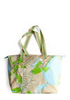 Met Your Map Bag - Multi, Green, Novelty Print, Casual, Tan, Blue, Travel