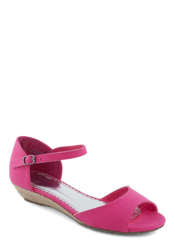 Do It the Bright Way Sandal - Pink, Solid, Casual, Summer