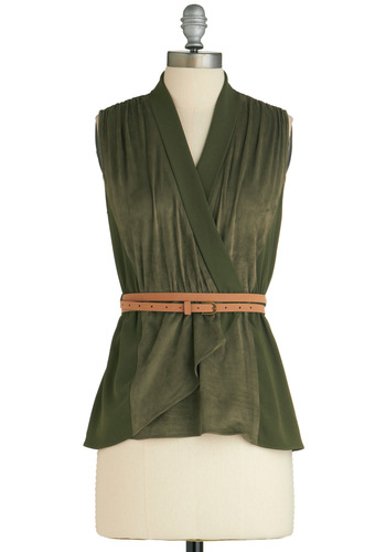 Sample 1638 - Green, Solid, Casual, Vintage Inspired, Sleeveless